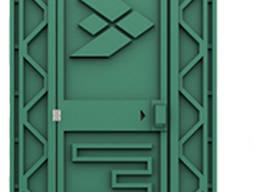 Туалет передвижной автономный зеленый