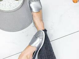 Туфли балетки женские Lorri серебро 1872