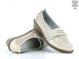 Туфли кожаные женские летние