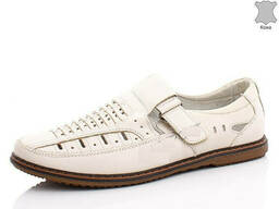 Туфли летние кожаные мужские (бежевые)