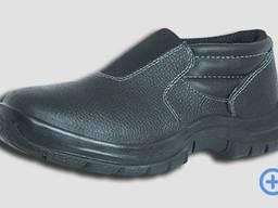 Туфли рабочие без шнуровки (с эластичной вставкой), кожа