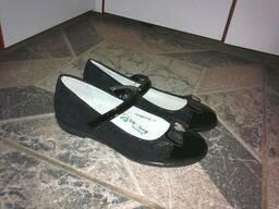 Туфли школьные для девочки черные рр. 31 - 37