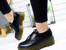 Туфли женские Martel черные кожа 9535