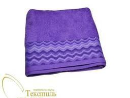 Рушник лицьовий50х90, хвиля фіолетовий 7250