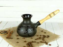 Турка Иероглиф керамическая с деревянной ручкой 350мл + рассекатель
