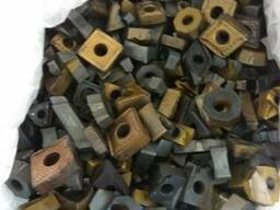 Твердосплавные пластины Т5К10, Т15К6 в кол-ве 107 кг