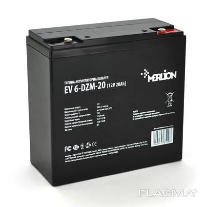 Тяговый аккумулятор скутера EV 6-DZM-20, 12Вольт, 20Ач.