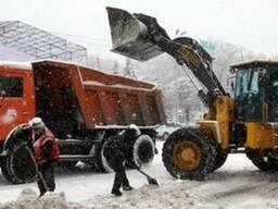 Аренда трактора для уборки снега и льда.