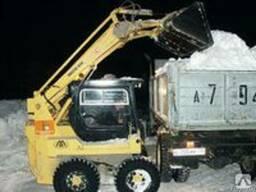 Уборка снега спецтехникой типа вовсат. - фото 2