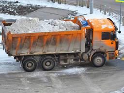 Уборка снега, вывоз снега самосвалом Киев и Киевская область