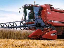 Уборка урожая зерновых комбайном
