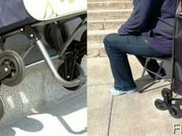 Удобная сумка на 6 колесиках со складным стулом - фото 4
