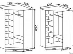 Угловой шкаф на балкон (мебель)