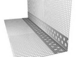 Угол пластиковый (ПВХ) с сеткой для утепления фасадов