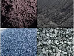 Уголь: шлам, штыб, фракцию, рядовку