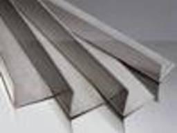 Уголок алюминиевый АД31 100х10х1 мм, б. п, анод