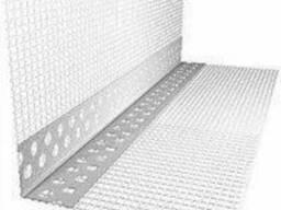 Уголок перфорированный пластиковый с сеткой Стандарт 3 м, 10*10см