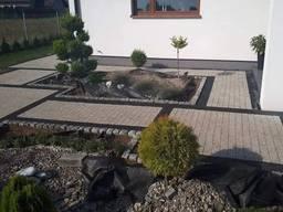 Укладка камня, тротуарной плитки, брусчатки