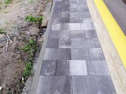 Укладка тротуарной плитки, брусчатки, фем