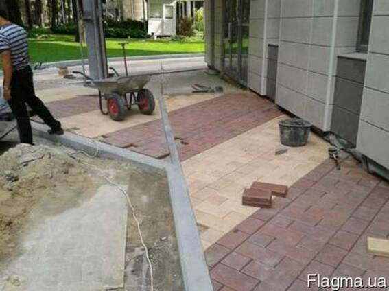 Укладка тротуарной плитки ФЭМ Красноармейск Селидово