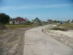 Укладка узкоколейной дороги бетонными плитами(плита в налич)