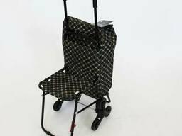Украина.Хозяйственная сумка на колесах со складным стулом