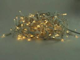"""Уличная Cветодиодная гирлянда Нить """"String"""" 10 метров Желтая, 100 LED белый провод. .."""