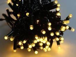 """Уличная Cветодиодная гирлянда Нить """"String"""" 20 метров Теплый Белый, 200 LED черный. .."""