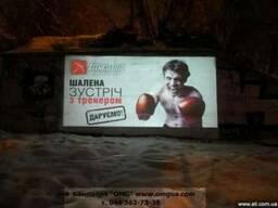 Уличные видеопроекторы для наружной рекламы