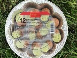 Улитка в ассортименте 4 вида, в тарелке 12шт.