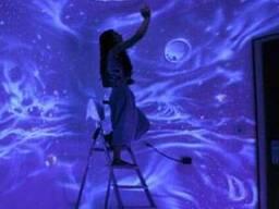 Ультрафиолетовая (флуоресцентная краска) для интерьера