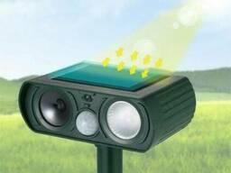 Ультразвуковой отпугиватель кротов и животных на солнечной батарее Solar Pest Reppeler. ..