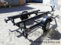 Улучшенный лодочный прицеп для водного мотоцикла, скутера, гидроцикла с трапом и ЛЭД. ..