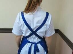 Униформа для горничной, комплект уборщицы, брюки и фартук - photo 2