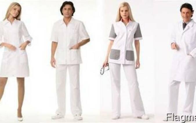 Униформа медицинская, халат фармацевта, костюмы