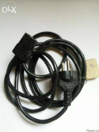 """Универсальный сетевой кабель """"компьютерный"""" 3-х контактный."""