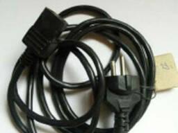 """Универсальный сетевой кабель """"компьютерный"""" 3-х контактный. - фото 1"""