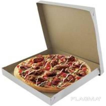 Упаковка для пиццы 30 белая квадратная (усиленная)