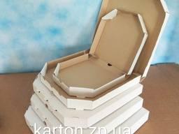Упаковка для пиццы белая / бурая