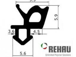 Уплотнитель REHAU для стекла (чёрный).