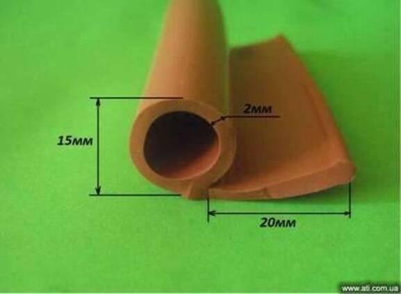 Уплотнитель силиконовый Р-образный для печей 15мм