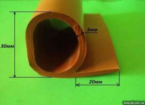 Уплотнитель термостойкий Р-образный 30мм