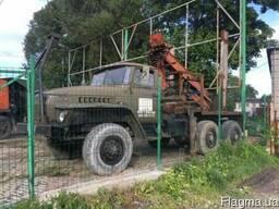 Урал фискас лесовоз кран манипулятор