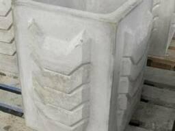 Урна бетонная уличная 400х400х560 мм