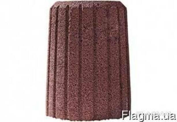 Урна декоративная Н=550, ф450 серая красная