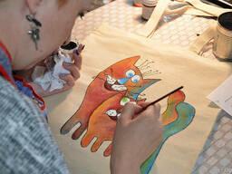 Уроки росписи на ткани в Днепропетровске