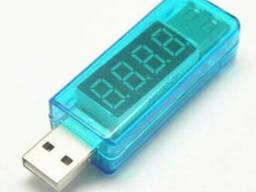 USB тестер Charger Doctor напряжения (3-7.5V) и тока (0-2.5A) Blue