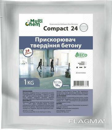 Ускоритель твердения бетона и гипса Compact-24, 1 кг