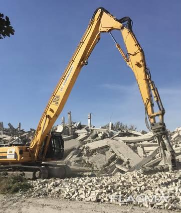 Услуга/Аренда экскаватора - разрушителя (demolution) на базе гусеничного экскаватора JCB