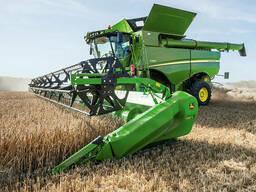 Услуги аренда комбайна уборка зерновых сои кукурузы подсолне